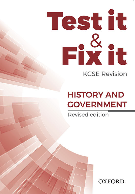 Test it & Fix it KCSE Revision History
